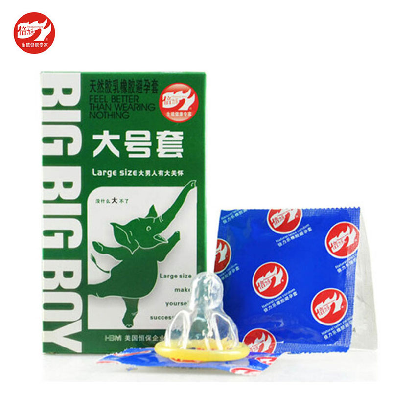 Large Size Big XXL Condom 10PCS Condoms for Big Cock Horny Men Women Adult Game Latex Thin Slim Sex Products