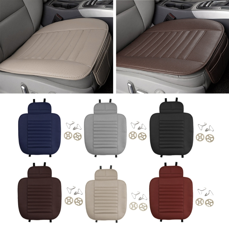 1PC Car Seat Cover Styling Four Seasons Leather Breathable Car Interior Seat Cover Pad Seat Cushion Car Front Back Seat Cover