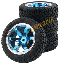 4Pcs RC Pull Rally 1 16 Off Road Wheel Rim Tyre Tires 706BB 8019