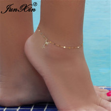 Anklets Barefoot-Sandal Thin-Chain Minimalist Foot-Jewelry Gold Women Cute Small