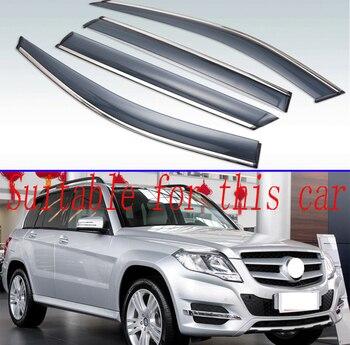 For Benz GLK200 350 250 220 GLK-Calss X204 2012-2015 Plastic Exterior Visor Vent Shades Window Sun Rain Guard Deflector 4pcs