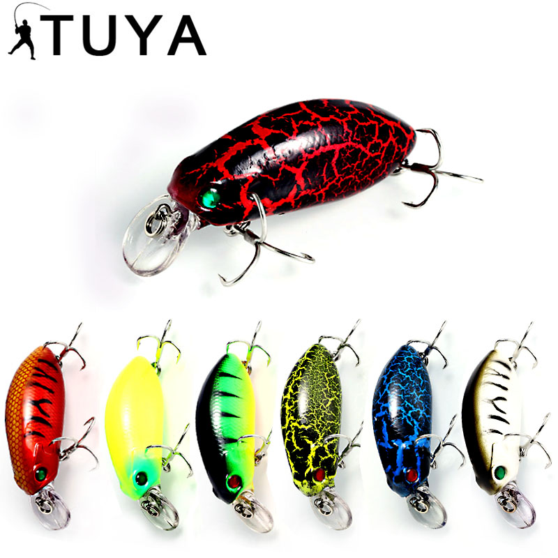 TUYA 1pcs Plavajoče ročičke Ribiške vabe Wobblers Minnow insekt design Umetna vaba 5cm 10g Hardbait Crank vaba Top voda