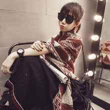 2016 Fashion Tartan Foulard Women Cashmere Scarf Luxury Brand Echarpes Foulards Femme YJWD460
