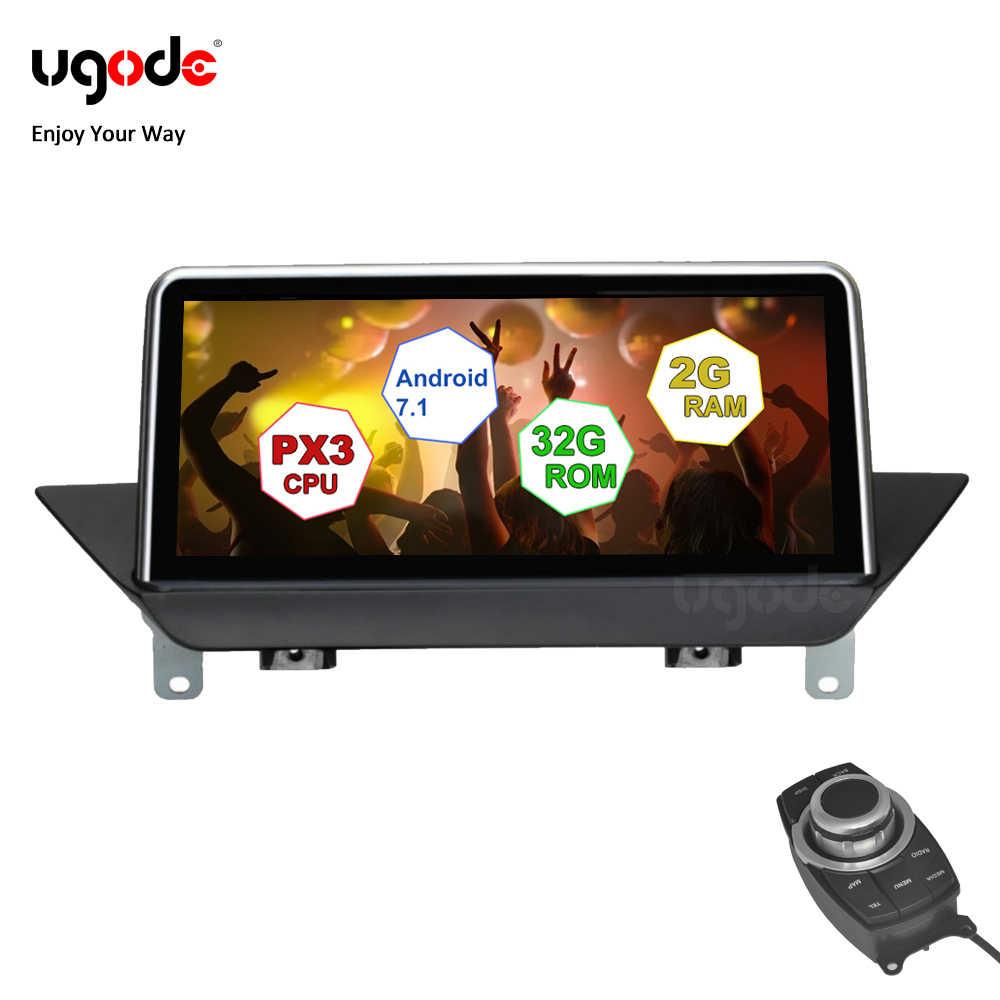 """Ufode Auto GPS nawigacja stereo System 10.25 """"ekran IPS Android 7.1 dla BMW X1 E84 promocja plug and play z przyciskiem iDrive"""