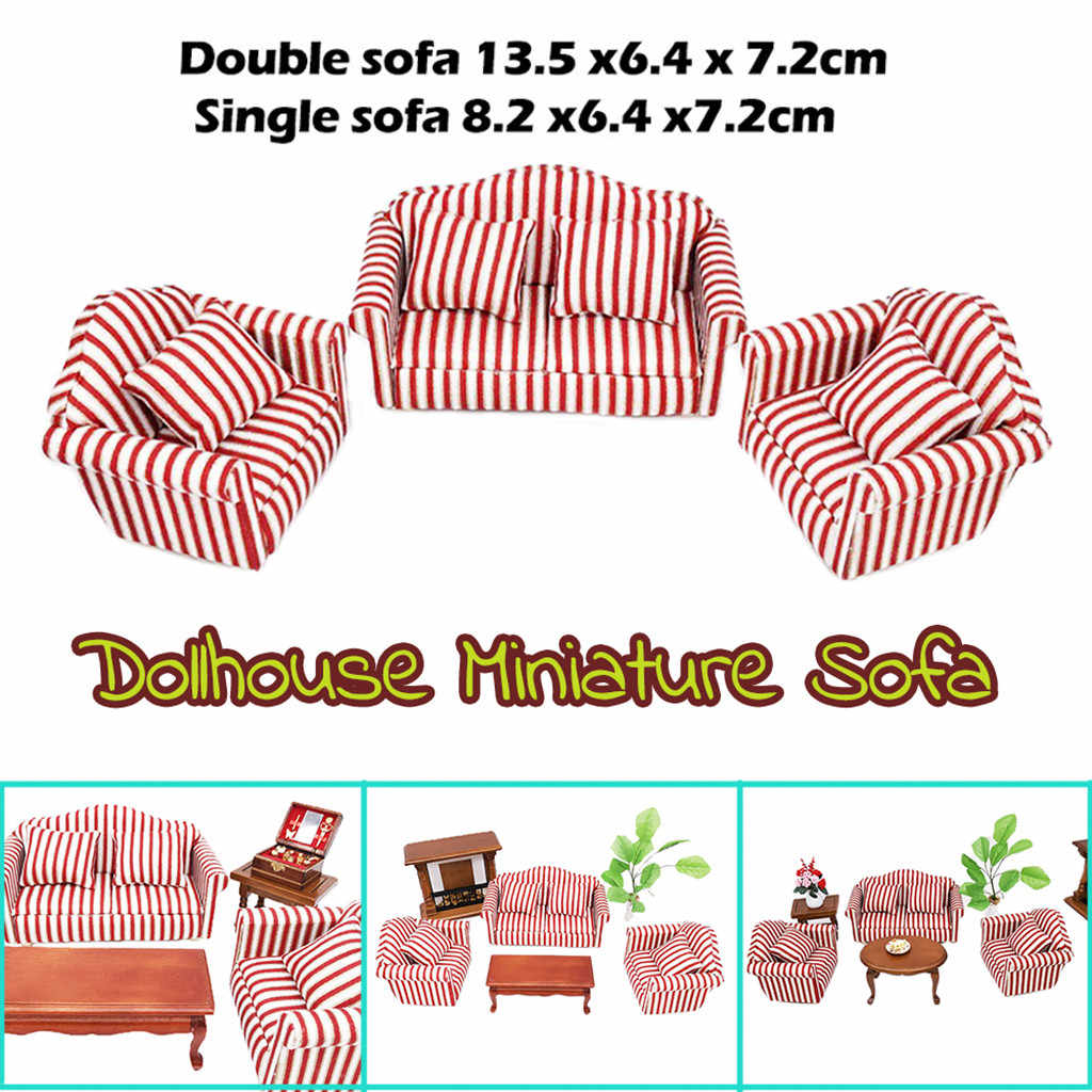Prime 1 12 Dollhouse Furniture Simulation Mini Wooden Sofa Set Dailytribune Chair Design For Home Dailytribuneorg