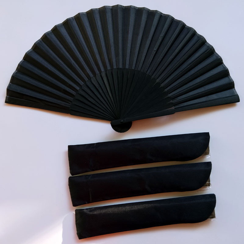 Chinese Style Black Vintage Hand Fan Folding Fans Dance Wedding Party Favor