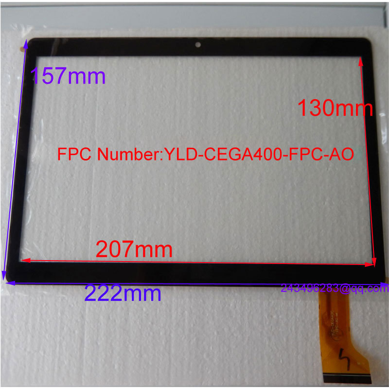 Replacement YLD-CEGA400-FPC-AO touch screen for 9.6 inch I960,MTK6592T,T950S tablet with screen dimension 157*222mm