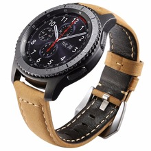 22m Genuine Leather Watch Band For Samsung Gear S3 Replacement Bracelet Classic frontier