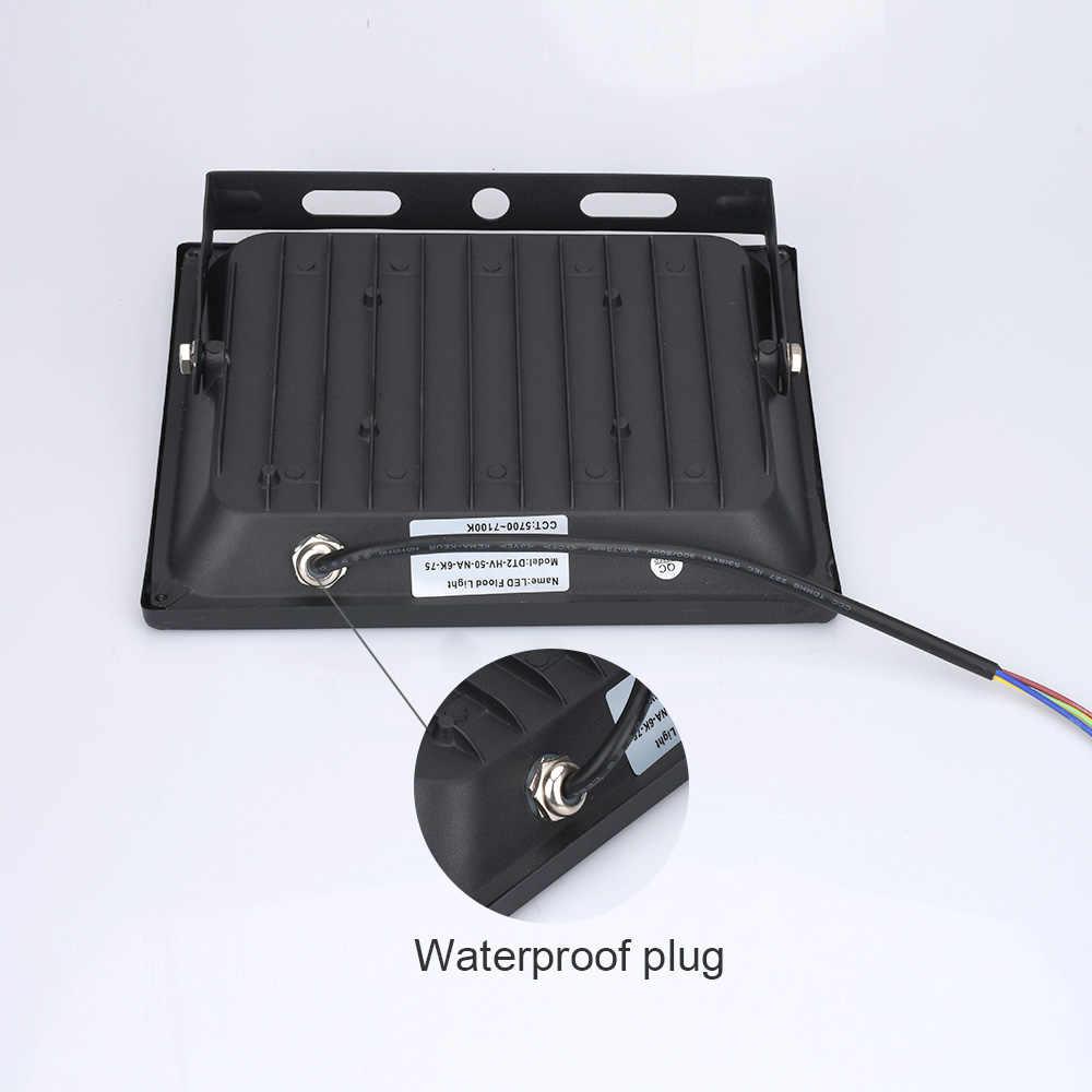 220 V Светодиодный прожектор мощностью 10 Вт, 30 Вт, 50 Вт, ручная сборка 100 Вт отражатель светодиодный прожектор Водонепроницаемый IP65 прожектор Наружное настенное освещение теплый холодный белый