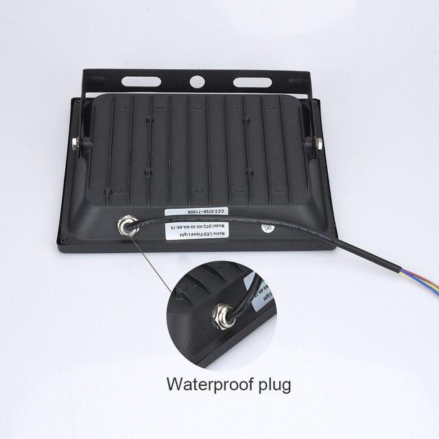 220V LED ışıklandırmalı 10W 30W 50W 100W reflektör LED projektör su geçirmez IP65 spot duvar açık aydınlatma sıcak soğuk beyaz