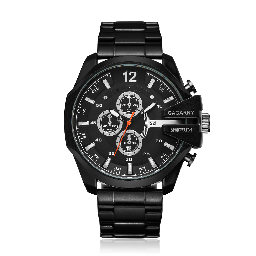 top luxury brand cagarny quartz watch for men gold steel band waterproof dz military Relogio Masculino mens watches drop shipping clock man cheap price (30)