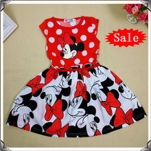2016 New Summer Girls Dress Tutu Princess Baby Minnie Mouse Dress Dot Baby Casual Paty Dress for 2-6 Years Kid Dress D011