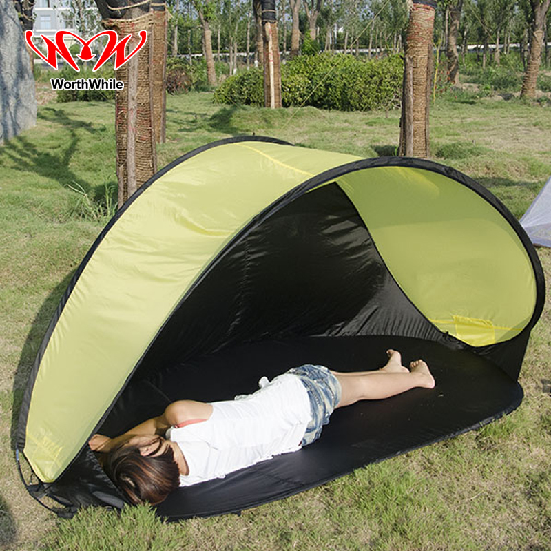 WorthWhile Pop up Tent for 1-2 Person Outdoor Camping Hiking Fishing Beach Waterproof UVproof Automatic Instant Setup Portabnle shengyuan outdoor water resistant automatic instant setup two doors 3 4 person camping tent with canopy
