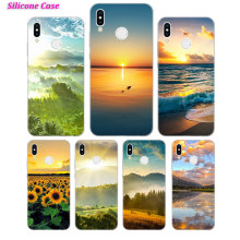 Silicone Case Sun set and riase for Huawei P Smart 2019 Plus P30 P20 P10 P9 P8 Lite Mate 20 10 Pro Lite Nova 3i Cover все цены