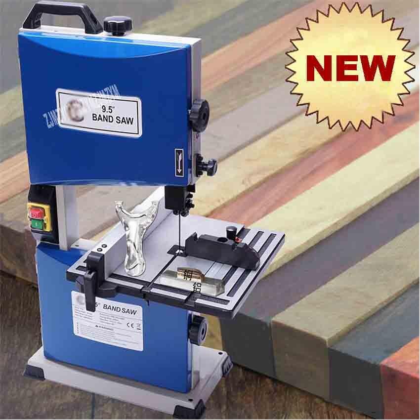 TC9S 9.5-inch multifonctionnel bois scie à ruban Machine petite courbe scie perles bouddha coupe métal bande-scie Machine 220V