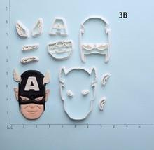 Super Hero American Captain Shield Cake Cutter Set Custom Made 3D Printed Plastic