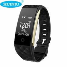 HUINIU S2 IP67 Водонепроницаемый Спорт Умный Браслет Heart Rate Monitor Фитнес Tracker Step Counter Браслет для Android IOS Телефон