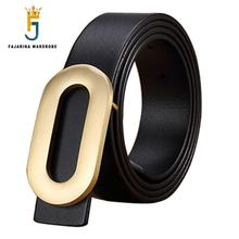 Top Quality Oval-shaped Brass Slide Buckle Mens Real Pure Cowhide Genuine Leather Brand Belts for Men Jean Strap Jeans NW0099