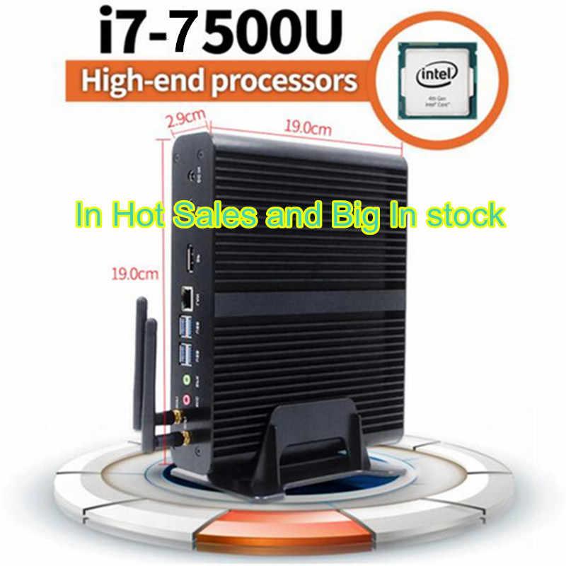 Eglobal جديد 7th الجيل بدون مروحة البسيطة Pc Windows10 إنتل كور I7 7500U 2.7 GHz إنتل HD الرسومات 620 مصغرة كمبيوتر مكتبي