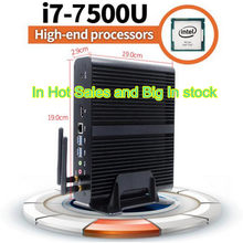 Eglobal nowy 7th generacji bez wentylatora Mini PC Windows10 Intel Core I7 7500U 2.7 GHz grafika Intel HD 620 Mini komputer stacjonarny(China)