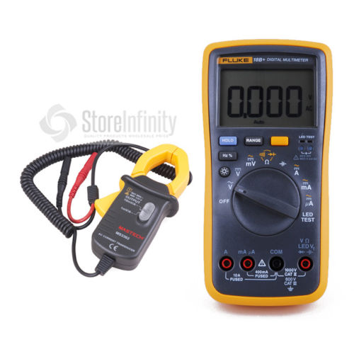 Fluke 18B+ LED AC/DC Voltage Current Digital Multimeter + Transducer AC Current Clamp Meter d8 hall effect high current transducer 1000a dc current transducer