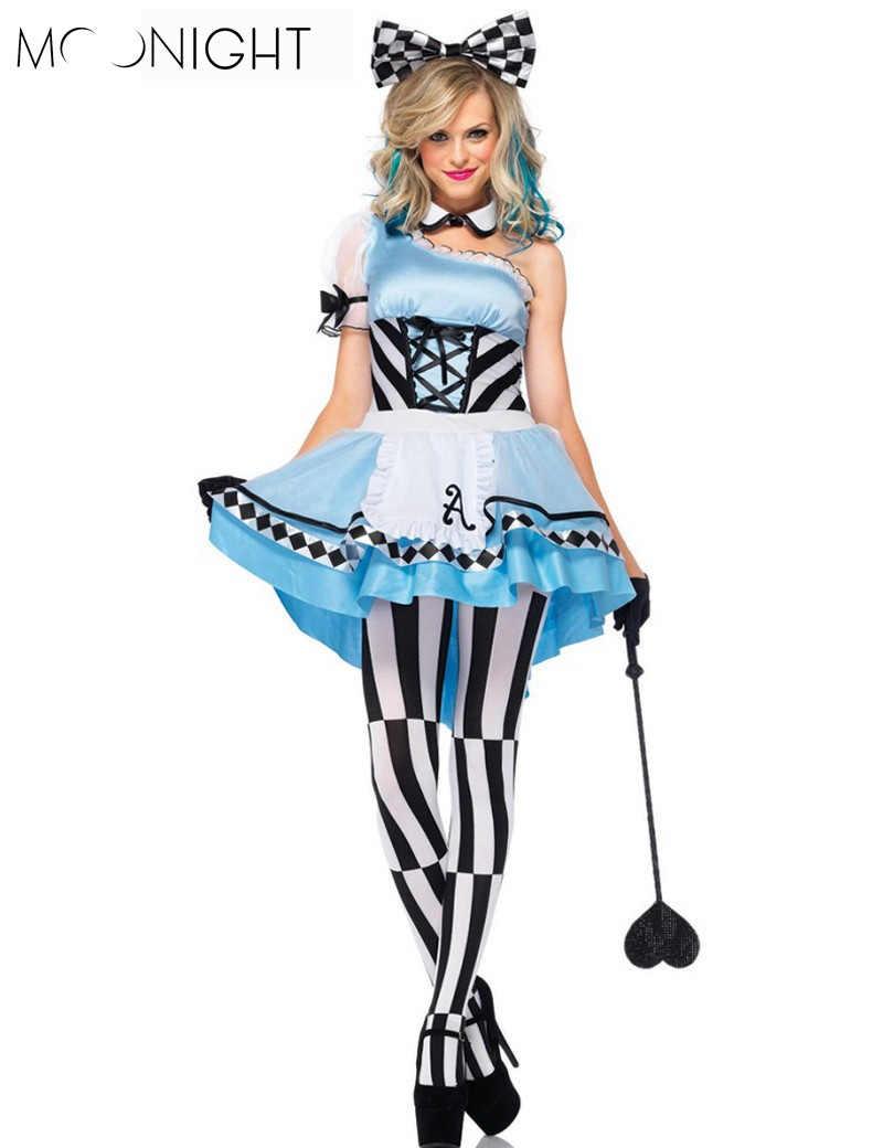 MOONIGHT Halloween trajes las mujeres Alicia en el país de las Maravillas  traje Maids Lolita Fancy 08a8be3e79a0