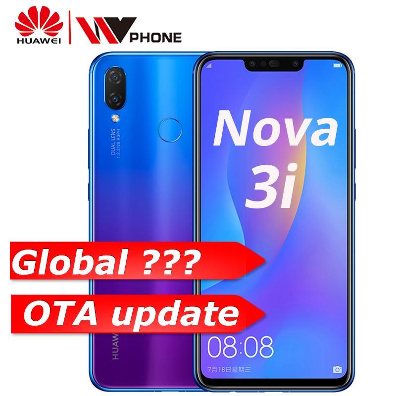 Huawe nova 3i 6G 64G nova Kirin710 3i 6.3 polegada 4 Câmera Do Telefone Móvel Núcleo octa Android 8.1 id de impressão digital