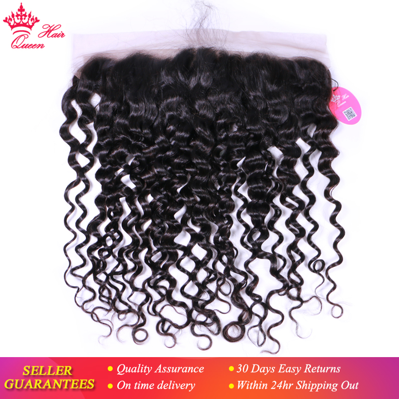 Queen Hair Brazilian Water Wave 13*4 Ear To Ear Lace Frontal Closure Virgin Hair Weave Bundles 100% Human Hair Shipping Free-in Closures from Hair Extensions & Wigs    1