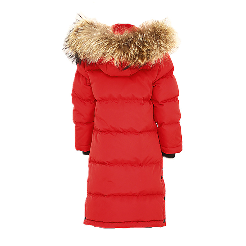 New children's down jacket sweet girl knee length Princess coat,long thick big hair collar warm down jacket. winter long new knee length women jacket longthen slim was thin coat big fur collar plus size thick parkas warm outwear mz847