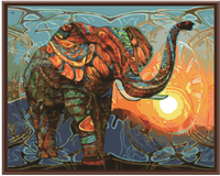Frameless Elephant Pictures Painting By Numbers DIY Digital Oil Painting On Canvas Home Decor Wall Art