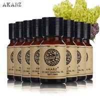 AKARZ Famous brand value meals Peony Verbena Frangipani tea tree Jasmine Peppermint Eucalyptus Violet essential Oils 10ml*8