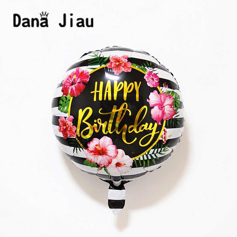 NEW 18inch happy birthday flower balloons sweet Party Decoration Balloon holiday Aluminum Inflatable Foil Ball kids toy