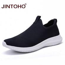 Мужские кроссовки унисекс JINTOHO, синие Повседневные слипоны, недорогие повседневные лоферы на лето 2019