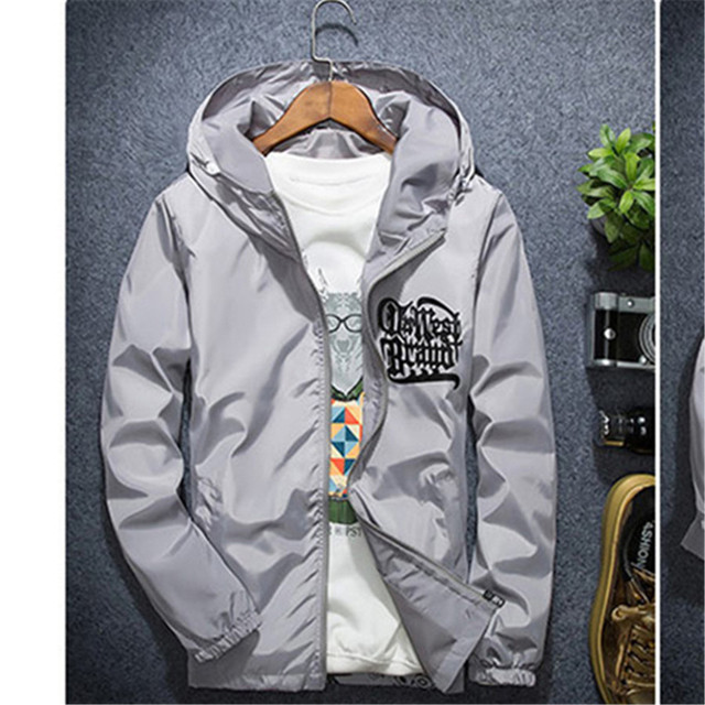 73cb8c07cf0ae Plus Size Jacket Men Casual Hooded Windbreaker Jacket Dresses Of The Big  Sizes Crook Raf Simons Men s Windbreakers 50C0061
