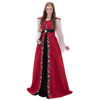 Vintage Medieval Renaissance Dress 18th Century Civil War Victorian Wedding Dress Ball Gown Fantasy Halloween Costume