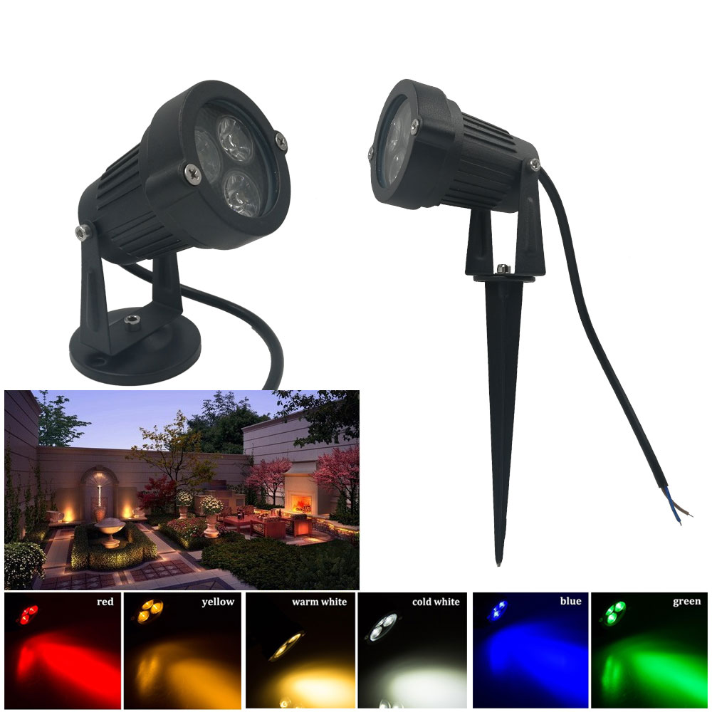 9W Waterproof spike Landscape led light 12V 110V 220V Landscape Spot Light IP65 outdoor Landscape led spike light for garden dc12v 24v led lawn lamps landscape light 9w 110v 220v waterproof outdoor garden light warm white spike led path lights