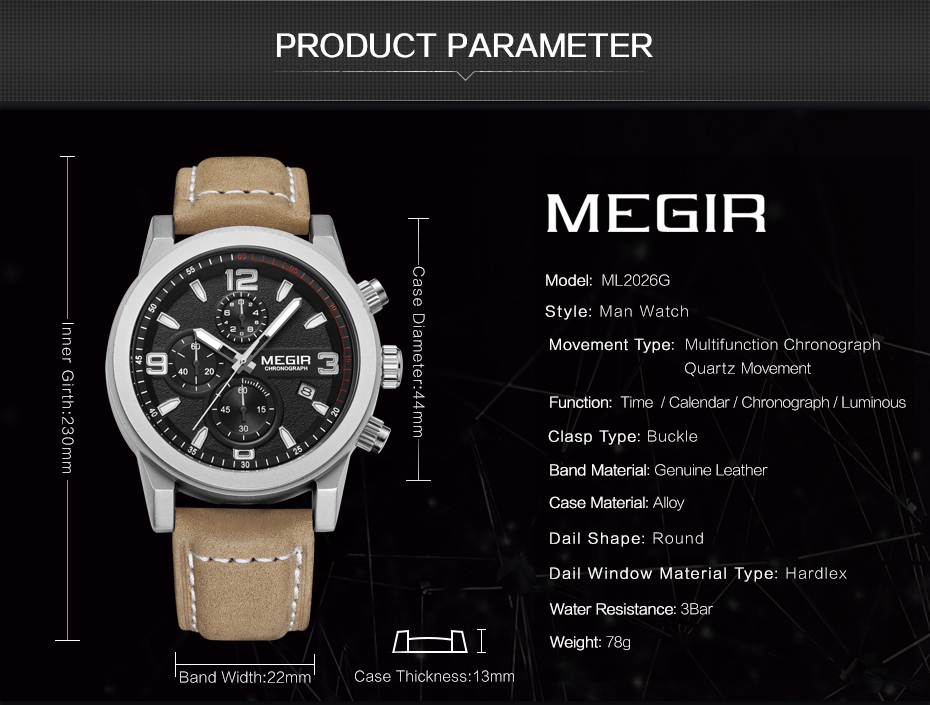 MEGIR Fashion Sport Watch Luxury Brand Leather Band Men Quartz Watches Chronogragph Clock Men Army Military Wrist Watch for Male 2  MEGIR Fashion Sport Watch Luxury Brand Leather Band Men Quartz Watches Chronogragph Clock Men Army Military Wrist Watch for Male HTB1cInOPXXXXXXxXFXXq6xXFXXXr