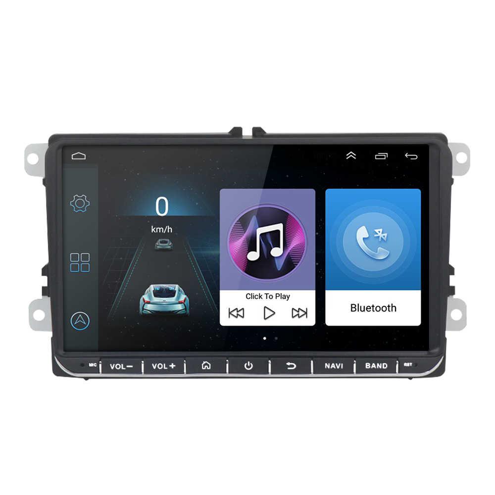 9 дюймов Android 8,1 двойной 2Din автомобильный Радио gps авто радио 2 Din USB для Volkswagen/Passat/GOLF/Skoda/Seat/Polo Wifi bluetooth 2din