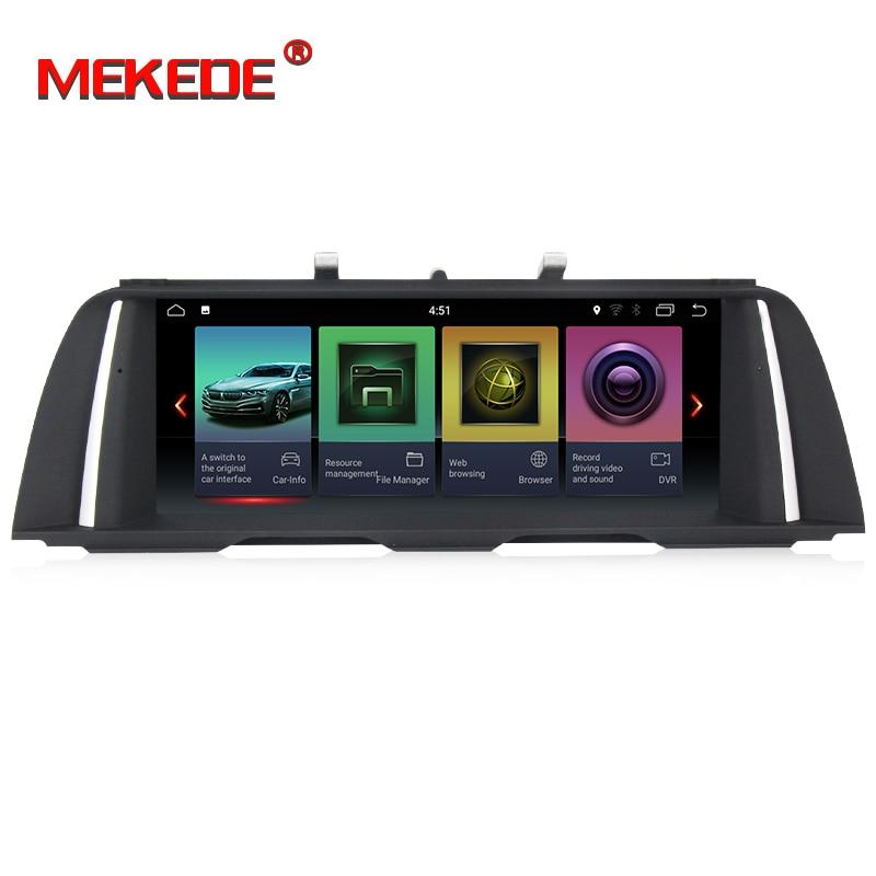 Lettore Multimediale HD Auto 2 din android 7.1 PX3 10.25 Pollici Per BMW 5 Serie F10/F11/520 (2011-2016) per CIC/NBT Radio GPS 32 GB