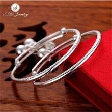 Siddhi 990 Silver Bracelet Sterling Silver Bracelet child baby dragon push-pull silver jewelry Anklets children