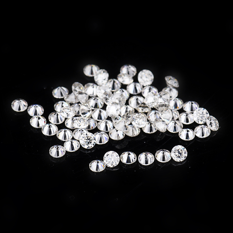 EF White Color 80pcs/pack Loose Diamond Beads 1.2mm Round Brilliant Moissanites Stones for Jewelry Making