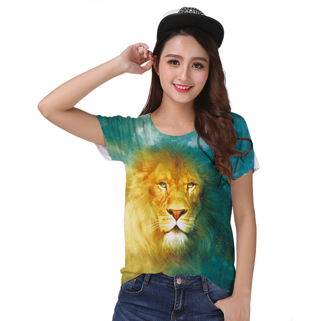 69fadb457f518 Suivre-Bateau-Imprim-R-tro-Cool-T-shirt-Top-Tee -Noble-l-gant-Cosmos-Roi-Lion.jpg 640x640.jpg