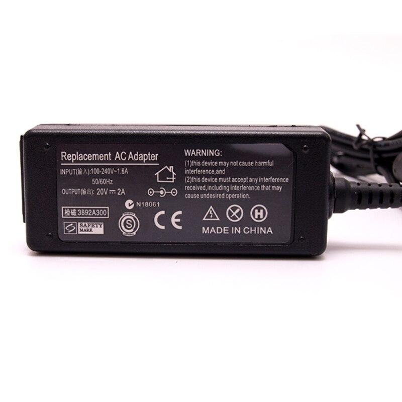 20V 2A 40W Ноутбук үшін AC Adapter ноутбугін - Ноутбуктердің аксессуарлары - фото 5