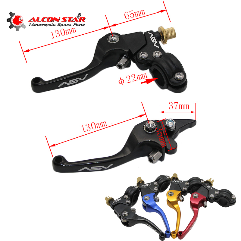Alconstar- Motorcycle Aluminum Folding ASV Universal Extendable Brake Clutch Levers 22mm For YCF CRF XR KLX Motocross Pit Dirt