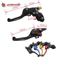 Alconstar Motorcycle Aluminum Folding ASV Universal Extendable Brake Clutch Levers 22mm for YCF CRF XR KLX Motocross Pit Dirt