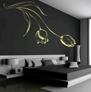 2011 new pvc lily living room bedroom wall decals wall sticker glass sticker wall paper. Black Bedroom Furniture Sets. Home Design Ideas