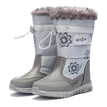Детские ботинки на платформе, теплые зимние ботинки с цветочным принтом для мальчиков и девочек, аксессуары для русской зимы, 2019