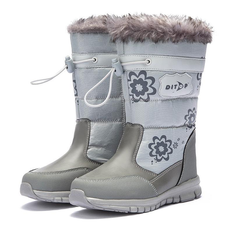 Children's Snow Boots 2019 New Baby Boy Girl Fashion Flower Platform Boots Winter Warm Snow Boots Kids Accessories Russia Winter|Boots| |  - title=