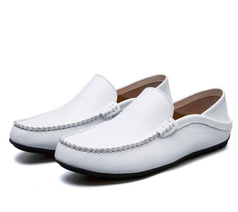 2019 azul Livre skid branco 49 Homens Slip 38 marrom Casuais Sapatos Condução Brancos Sólidos Size Marinho laranja Preto Apartamentos Ar on Anti Macios Mocassins Plus Ao tStwFqxZr