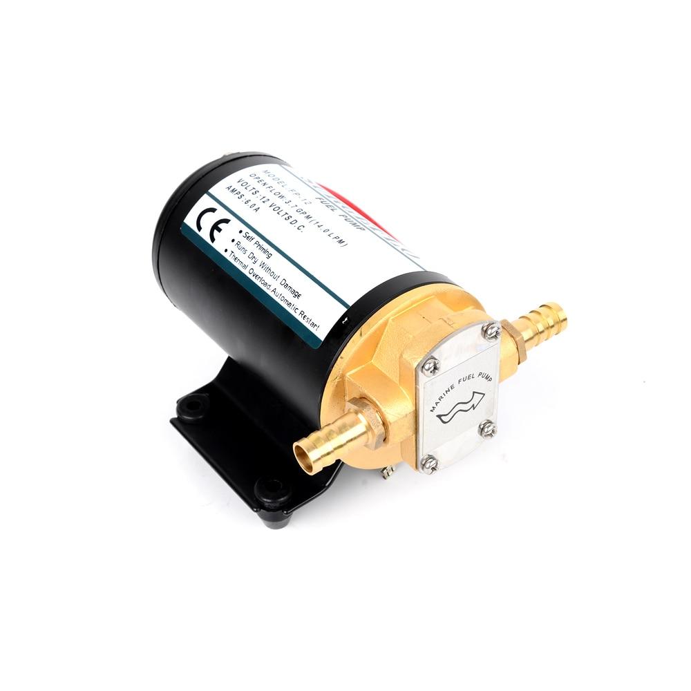 DC 12V/24V 168W 12L/Min Lift 3m Mini Electric Gear Pump Oil Car Fully Automatic Diaphragm Pump Fuel Transfer Pump FP-12 FP-24V